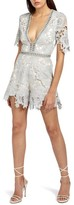 Missguided Women's Ladder Stitch Lace Romper