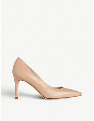 LK Bennett Floret pointed leather court shoes
