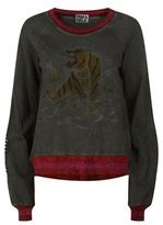 Pam & Gela Embroidered Tiger Sweatshirt