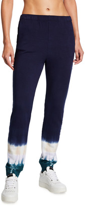 Monrow Supersoft Fleece Tie-Dye Jogger Pants
