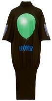 Christopher Kane Looner Balloon-print Cotton Dress - Womens - Black