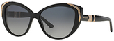 Bvlgari BV8151BM Cat's Eye Sunglasses, Black