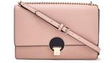 Vivienne Westwood Women's Opio Saffiano Leather Large Fold Over Shoulder Bag Pink