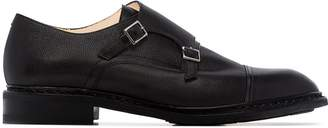Paraboot Graine textured-leather monk shoes