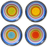 Certified International Tequila Sunrise 4-pc. Canape Plate Set