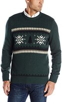 Dockers Christmas Tree and Snowflake Holiday Party Crew-Neck Sweater