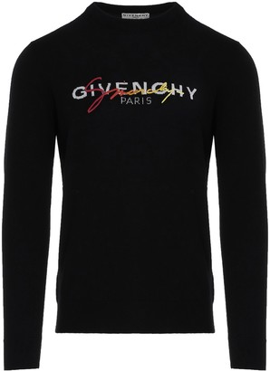 Givenchy Signature Embroidered Knitted Sweater