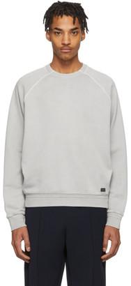 Ermenegildo Zegna Grey Garment Dyed Sweatshirt