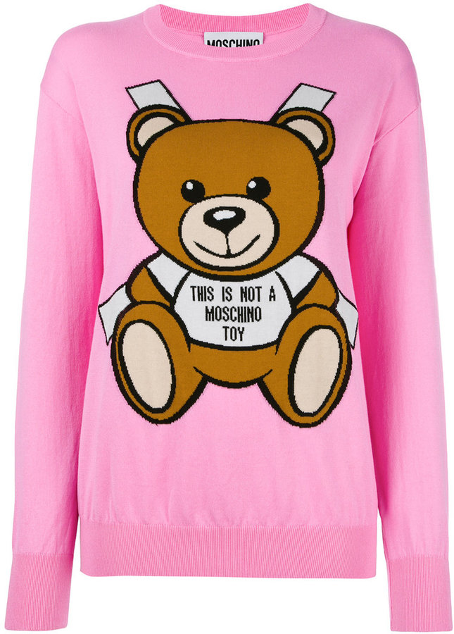 Moschino toy bear paper cut out jumper