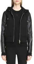 Givenchy Women's Neoprene & Leather Hooded Moto Jacket