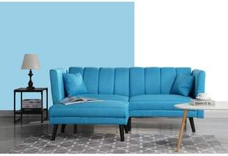 Madison Home USA Mid Century Convertible Sofa Upholstery: Sky Blue