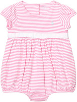 Ralph Lauren Pink and White Stripe Bubble