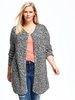 Old Navy Relaxed Plus-Size Open-Front Textured Cardi