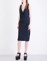 Anglomania Ruched crepe dress