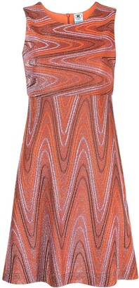 M Missoni Zigzag Lame-Effect Mini Dress