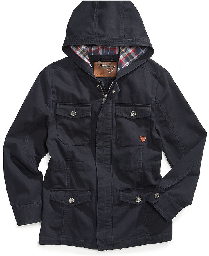 GUESS Kids Jacket, Boys Hooded Parka