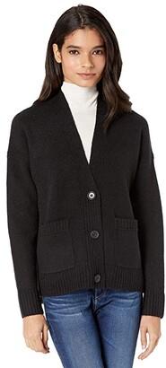 J.Crew Supersoft Cropped Cardi (Black) Women's Sweater