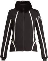 Fendi Roma fur-trimmed bi-colour ski jacket