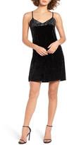 Socialite Crushed Velvet Camisole Swing Dress