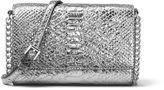 MICHAEL Michael Kors Ruby Medium Metallic Leather Clutch Bag