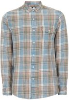 Topman Blue Checked Casual Shirt