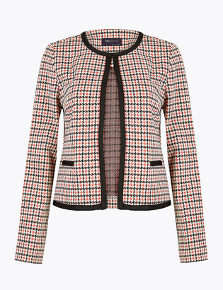 Marks and Spencer Jersey Slim Dogtooth Blazer