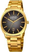 August Steiner Men's Quartz Stainless Steel Casual Watch, Color:Gold-Toned (Model: AS8237YGB)