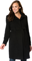 Motherhood Belted Maternity Coat