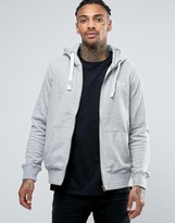 Tokyo Laundry Fleece Lined Zip Through Logo Hoodie