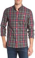 Fred Perry Men's Trim Fit Marl Tartan Woven Shirt