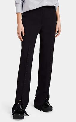 Jil Sander Women's Virgin Wool Snap-Front Pants - Navy