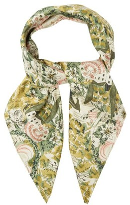 Shrimps Florence Floral-print Silk Scarf - Green Multi