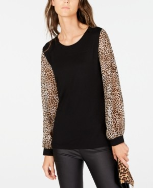 INC International Concepts Inc Petite Contrast-Trim Knit Top, Created for Macy's