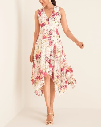 Taylor Floral-Print Stretch-Lace Dress