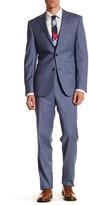 Simon Spurr Blue Glenplaid Two Button Notch Lapel Regular Fit Suit
