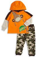 Nannette Baby Boys Monkey Sweatshirt and Camo Pants Set