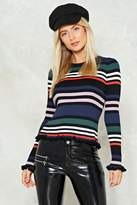 Nasty Gal Stripe for the Picking Sweater