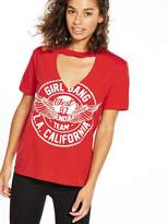 RI Petite Printed Choker T-Shirt