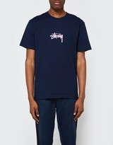 Stussy Stock Tee in Navy