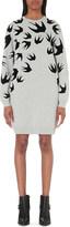 McQ by Alexander McQueen Flocked swallow jersey dress