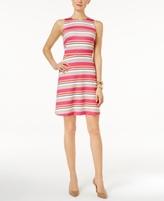 MICHAEL Michael Kors Petite Madison Striped Fit & Flare Dress