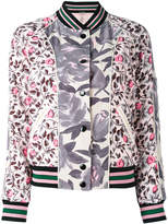 Coach printed polyester reversible bomber jacket