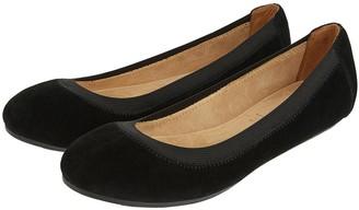 Accessorize Elasticated Suede Ballerina Shoes - Black