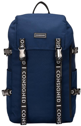 Consigned Torrett Twin Pocketed Flapover Backpack Navy
