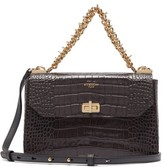 Givenchy Catena Small Croc-effect Leather Cross-body Bag - Womens - Grey