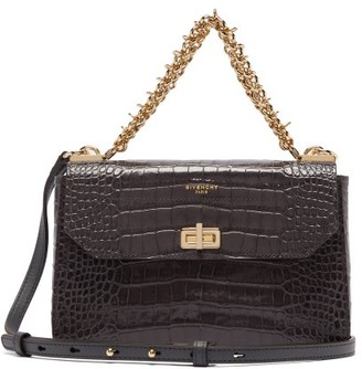 Givenchy Catena Small Croc-effect Leather Cross-body Bag - Grey
