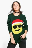 boohoo Katie Sunglasses Emoji Christmas Jumper bottle