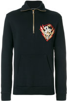 Balmain embroidered patch sweatshirt