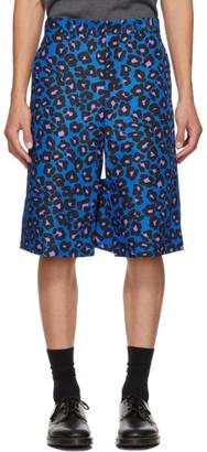 Comme des Garçons Homme Plus Blue Animal Shorts