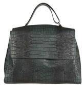 Orciani Women's Green Leather Shoulder Bag.